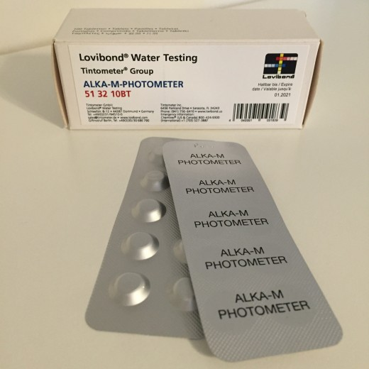 Alka-M-Photometer tablet (Sort Lovibond 513210BT) 1 ark = 10 tab-31