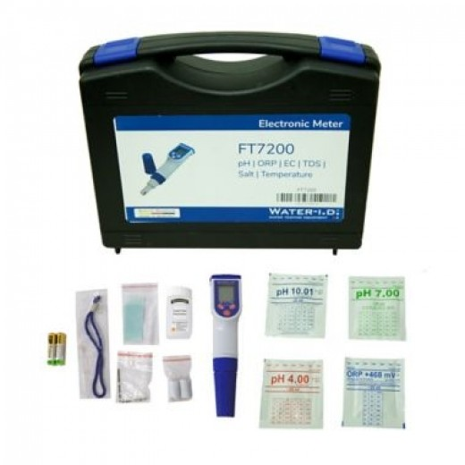 Electronic Meter pH, ORP, EC, TDS, Salt Temperature