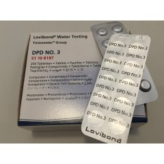 DPD 3 - Photometer tablet (Sort Lovibond 511081BT) 1 ark = 10 tab